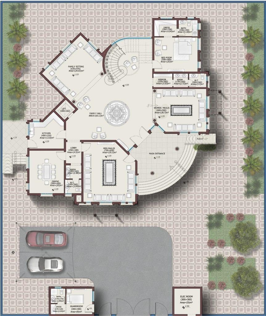 تصاميم فلل - مخطط 1