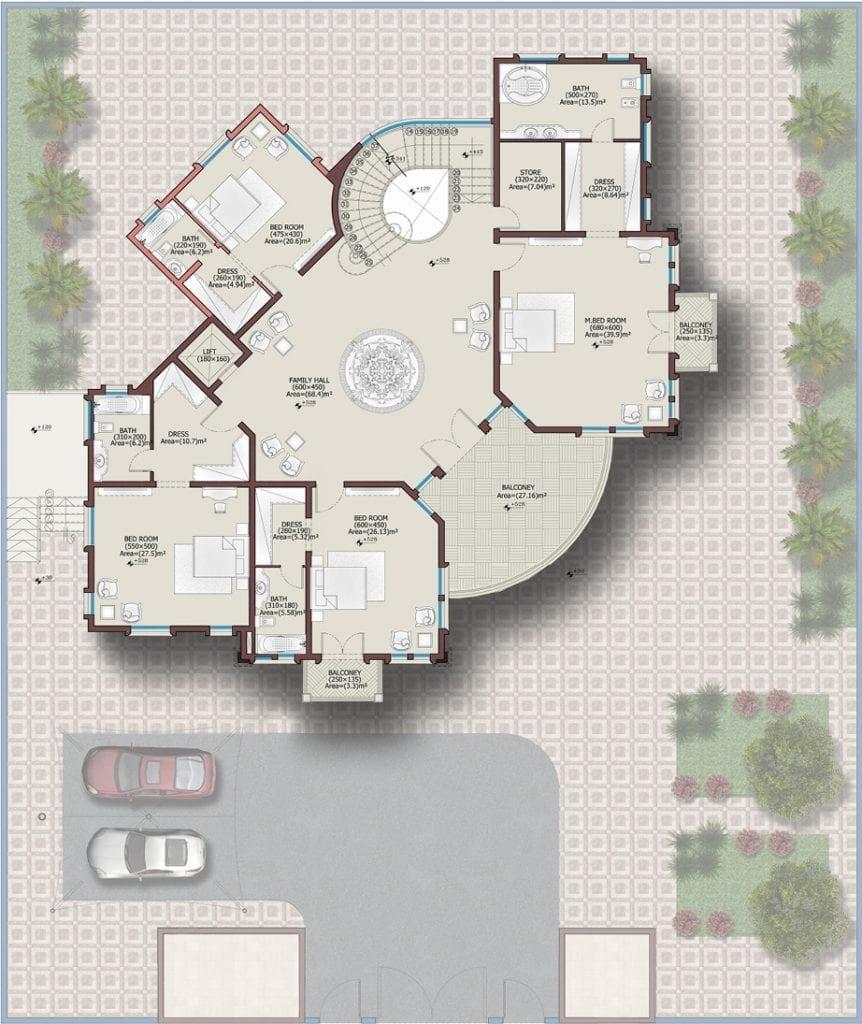 تصاميم فلل - مخطط 2