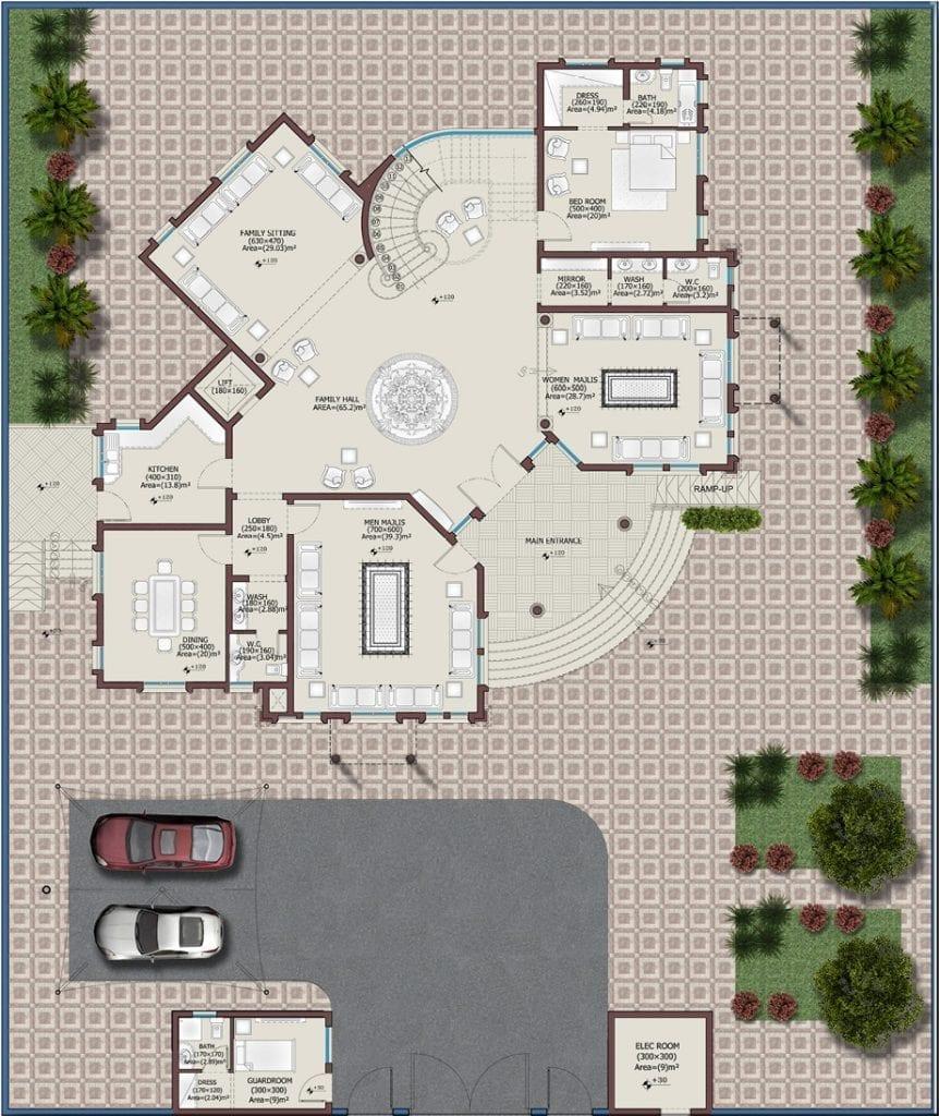 تصاميم فلل - مخطط 3