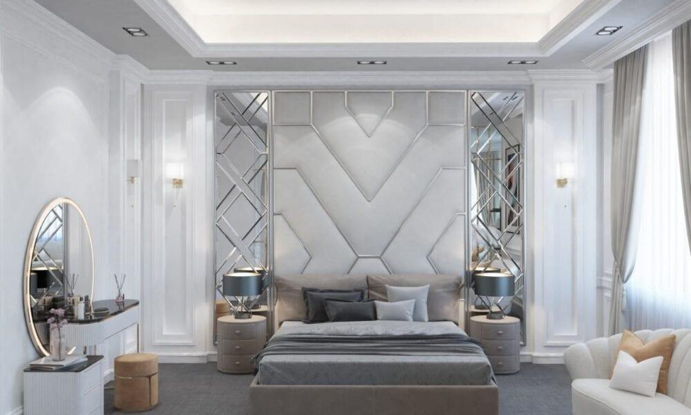 ديكورات غرف نوم كلاسيك بيضاء