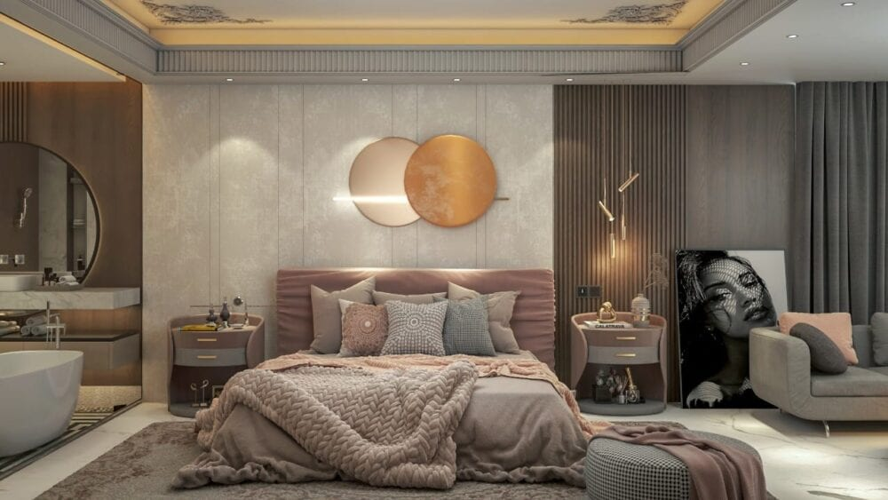 ديكور غرف نوم راقية في أبوظبي للبنات