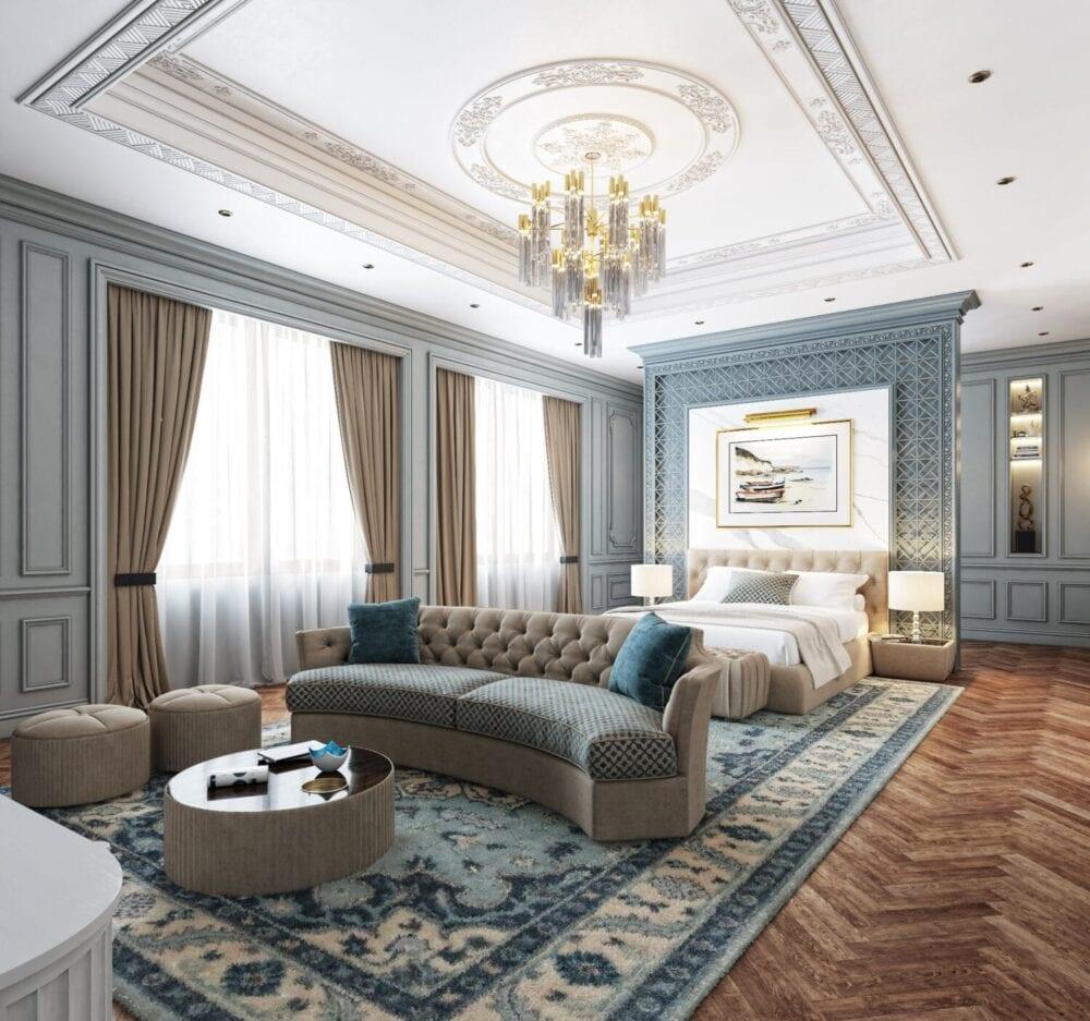 غرف نوم راقية في أبوظبي للعرسان