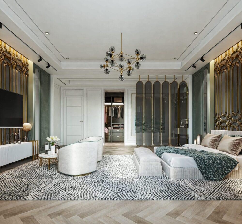 ديكور غرف نوم خضراء