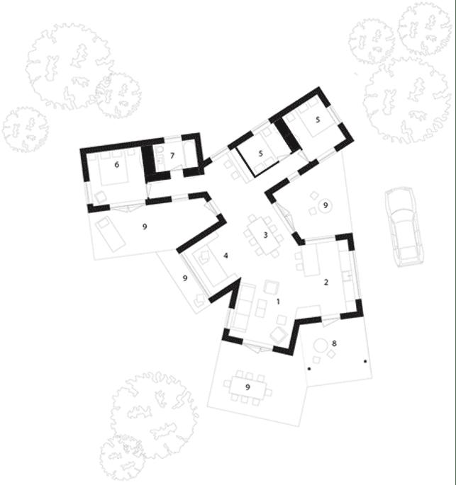 مخطط المنزل الافقي plan