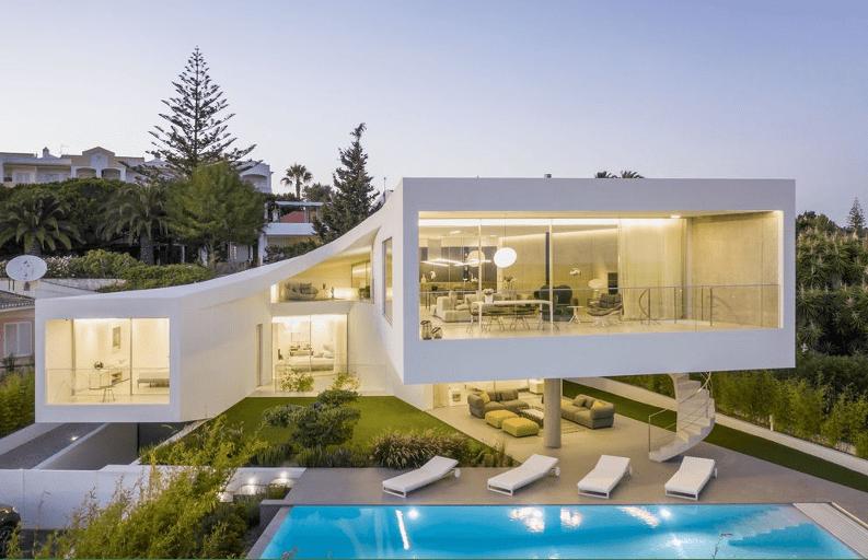 فيلا في البرتغال من تصميم داخلي vitor vilhena arquitectura