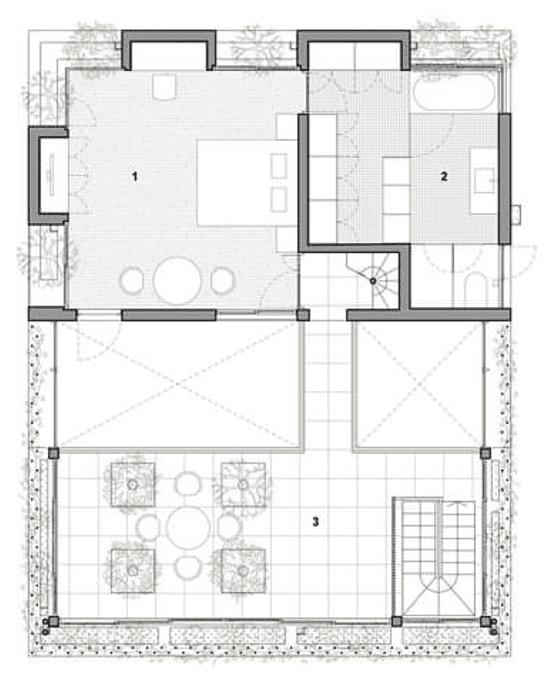 قطاع افقي في الدور الاول (first floor plan)